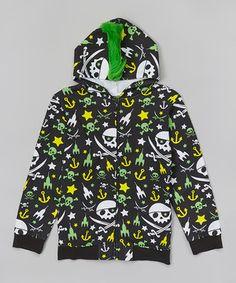 Loving this Black Pirate Zip-Up Hoodie - Boys on #zulily! #zulilyfinds