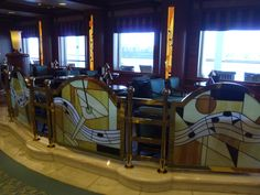 Side view of the Crooners lounge