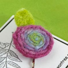 Beneath the Rowan Tree: Tutorial:: Wool Spiral Blossoms (Needlefelted Embellishments)
