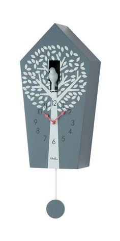 """Design Kuckucksuhr """"AMS Wanduhr 7287"""" · Holzgehäuse ·  Baum Motiv · Nachtabschaltung · versandkostenfrei · 100 Tage Rückgabe · Tiefpreisgarantie · nur 99,00 EUR bei Uhren4You.de bestellen"""