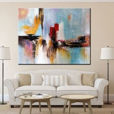 Large  Hand Painting Modern Abstract Oil Paintings On Linen Canvas no frame | Art, Direct from the Artist, Paintings | eBay!