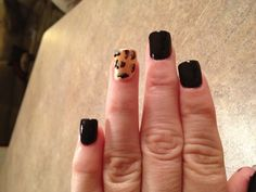 """My actual nails today... Deep purple """"Lincoln Park After Dark"""" OPI polish with leopard print."""