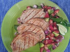 You have a grill. @Kroger has avocados, strawberries and pork chops. So it's probably time to make these unique Grilled Pork Chops.