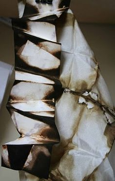 Silk dyed with onion skins - folds | alice fox