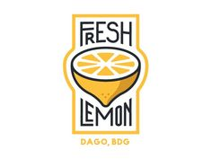 Fresh Lemon by Wehan Ilmajuang Supriyono PopularYou can find Logo design and more on our website.Fresh Lemon by Wehan Ilmajuang Supriyono Popular Graphisches Design, Design Blog, Food Design, Logo Design Simple, Design Ideas, Logo Inspiration, Identity Design, Corporate Identity, Type Logo