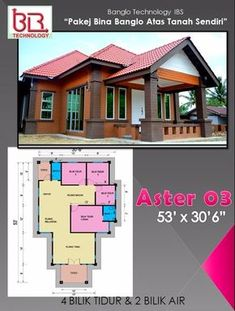 4 Bedroom House, Small House Design, Modern House Plans, House Layouts, Interior Design Kitchen, Small Living, Room Decor, Mansions, Architecture