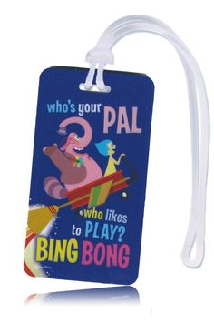 "Disney Inside Out Backpack and Kids Luggage ID Tag  Bing Bong: ""Inside Out"" Fan Favorite? New Products & Collectibles #insideOutEvent"