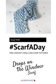 I love this use of the crochet bobble stitch. #ScarfADay