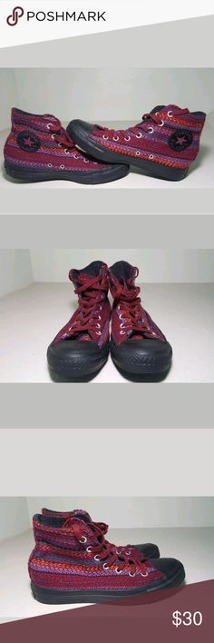 Converse all star chuck taylor women size 7 Converse all star chuck taylor women size 7 woven knit design soles are in great condition. Overall the shoe is in good condition. Converse Shoes Sneakers