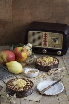 Bizcocho de espelta, manzana y cereales