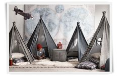 I saw a property that had a yurt. This would be a fun idea for the kids- especially if we ever had that family reunion.