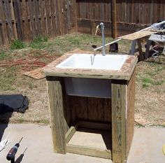 DIY Yard Sink | Outdoor Sink