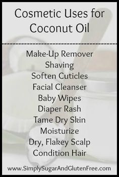 Cosmetics uses of Coconut Oil. #cosmetics uses of coconut oil, #coconut oil diy beauty products, #coconut oil is amazing