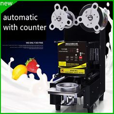 JKL hot sale 2017 New design professional high quality automatic cup sealing machine industrial cup sealer for small business Bubble Boba, Commercial Electric, Juice Cup, Yogurt, Cool Things To Buy, I Am Awesome, Home Appliances, Tea, Free Shipping