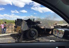 DE OLHO 24HORAS: Grupo explode cofre e ateia fogo em carro-forte en...