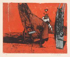 Vincent Hložník - 32 - List z cyklu Veselý zvierací svet Collage Illustration, Printmaking, Gallery, Movie Posters, Art, Art Background, Roof Rack, Film Poster, Kunst