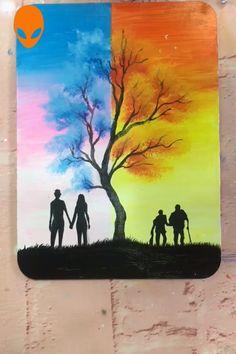 Beautiful Paintings About Love - Painting Tutorial Videos Chalk Pastel Art, Oil Pastel Art, Oil Pastel Drawings, Art Drawings, Canvas Painting Projects, Easy Canvas Painting, Love Painting, Canvas Art, Romantic Paintings