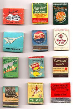 more vintage matchbooks