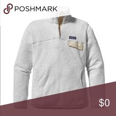 PRICE DROP!white Patagonia re-tool fleece pullover In perfect condition only wore a few times, need to sell because I need a large (only willing to trade for that too) Patagonia Jackets & Coats