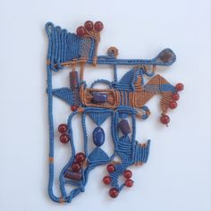 "Fiber Art by Jo Macrame Mamamacrame Jewellery. "" Freedom 1"""