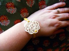 Thai button bracelet