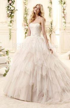 Milti-couches robe de mariage princesse tulle ruches [#ROBE209580] - robedumariage.com