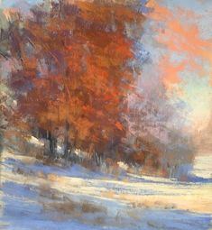 Currently showing at the Texas Women Exhibit at Arts at the Sunset through May! I painted this pastel last fall of an early winter snow. Two of my favorite seasons to paint next to spring and summer. Tree Illustration, Landscape Illustration, Impressionist Paintings, Landscape Paintings, Pastel Landscape, Winter Art, Winter Snow, Autumn Painting, Watercolor Paintings