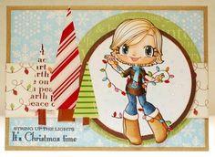 some odd girl christmas card   Found on athousandsheetsofpaper.blogspot.com