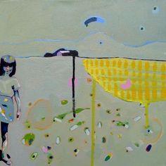 "Saatchi Online Artist Rachael Adams; Painting, ""The Yellow Field"" #art"