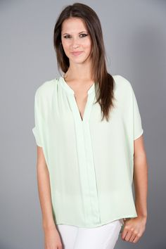 EVERLY: Sweet Tea with Me Top- Mint