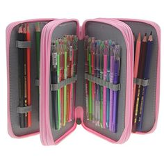 Colored Pencil Holder, Colored Pencils, Pencil Bags, Pencil Pouch, Creative Gifts, Great Gifts, Art Supplies Storage, Markers, Sewing Projects