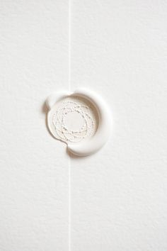 white wax seal.