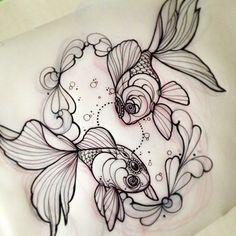I def need a goldfish tattoo Future Tattoos, New Tattoos, Cool Tattoos, Tattoo Sketches, Tattoo Drawings, 3d Drawings, Tattoo Ink, Tattoo Practice Skin, Tattoo Designs