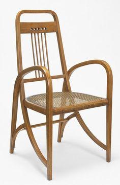 Thonet bentwood chair, c. 1905, Austria, possible attribution to Josef Hoffmann