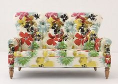 Battersea Sofette, Bloom - I could totally design a room around this! It would be fun in a guest bedroom. Take A Seat, Love Seat, Silla Art Deco, Floral Couch, Sweet Home, Armelle, Fancy Houses, My New Room, My Dream Home