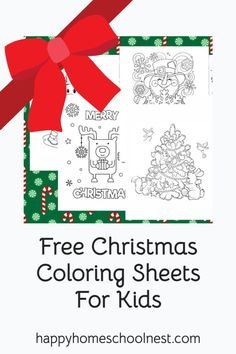 Keep your kids entertained this Christmas time with some fun (and totally free) coloring sheets.   There's 15 different designs to choose from that will be delivered straight to your inbox for you to print off and enjoy in the comfort of your own home. Easy Coloring Pages, Free Coloring Sheets, Printable Coloring Pages, Christmas Colors, Christmas Themes, Kids Christmas, Christmas Cards, Christmas Coloring Sheets For Kids, Homeschooling Resources