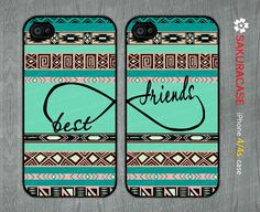 Best Friends iphone 4 case Infinity iphone 4 case Infinity Best Friends Aztec iphone 4 4s Hard/Rubber case-Two Case Set-Choose Color by sakuracase, $14.99