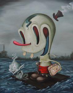 The artwork of Joe Scarano. Retro Kunst, Retro Art, Lowbrow Art, Surreal Art, Macabre, Art World, Art Direction, Cover Art, Game Art