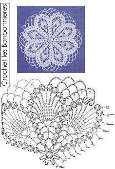 New Crochet Coasters Table Runners Doily Patterns Ideas Crochet Coaster Pattern, Crochet Doily Patterns, Crochet Chart, Crochet Squares, Thread Crochet, Filet Crochet, Crochet Doilies, Crochet Flowers, Crochet Patron