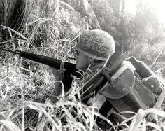 Vietnam War Helmet Art | During Operation Ashburn, south of Da Nang in Decmber 1967, a member ...