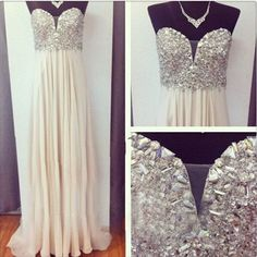 Ivory Prom Dresses,A Line Prom Dress,Chiffon Prom Dress,Simple Prom Dress,Sparkle Prom Dress,Sparkly Evening Gowns,Cheap Party Dress,Elegant Prom Dresses,2018 Formal Gowns For Teens MT20183596