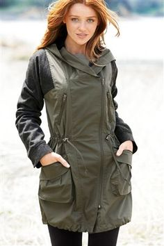 Buy Fabric Mix Parka from the Next UK online shop