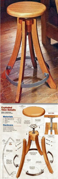 Shop Stool Plans - Workshop Solutions Plans, Tips and Tricks Furniture Projects, Furniture Plans, Wood Furniture, Wood Projects, Woodworking Bench, Woodworking Shop, Woodworking Projects, Wood Working For Beginners, Wood And Metal