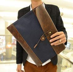 Card holder male clutch commercial envelope bag man bag fashion day clutch file bag briefcase $22.00