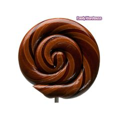 Brown Chocolate Swirl 1-Ounce Lollipops: 34-Piece Case