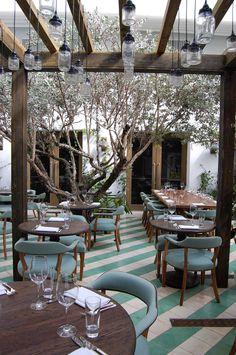 Cecconi's, a restaurant in Miami designed by Martin Brudnizki.