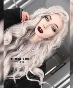 Wigs For White Women Amla Powder For Gray HairSalt And Pepper Hair Men – wigbaba Pretty Hairstyles, Wig Hairstyles, Straight Hairstyles, Gothic Hairstyles, Lace Front Wigs, Lace Wigs, Hair Inspo, Hair Inspiration, Pelo Color Gris