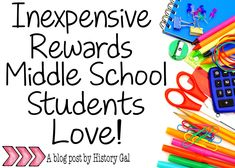 10 inexpensive rewards to use in your middle school class.