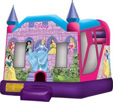 Disney princess bounce house combo unit