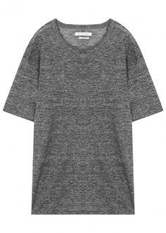 Keiran dark grey linen T-shirt